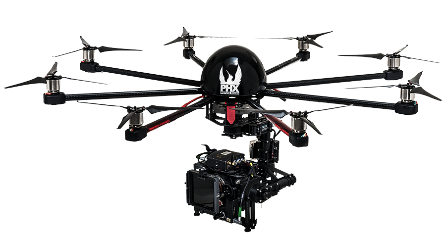 Octocopter with M10 and RED DRAGON CARBON